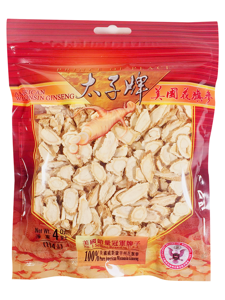 Prince of Peace Wisconsin American Ginseng Slices, 4 oz
