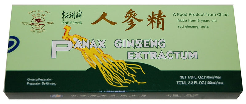 Pine Brand Red Panax Ginseng Extract with Alcohol, 10x10cc