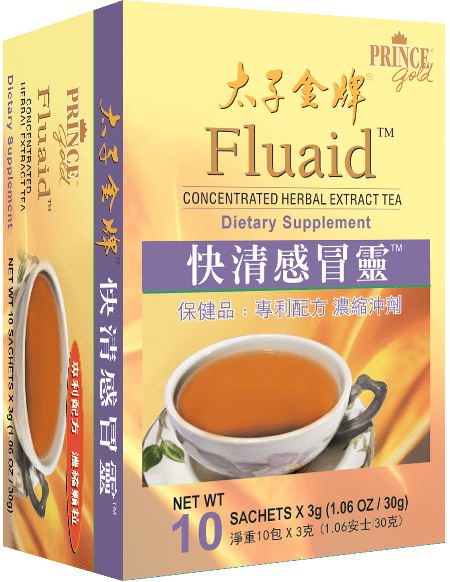 Prince Gold Fluaid - Concentrated Herbal Extract Tea, 10 sachets