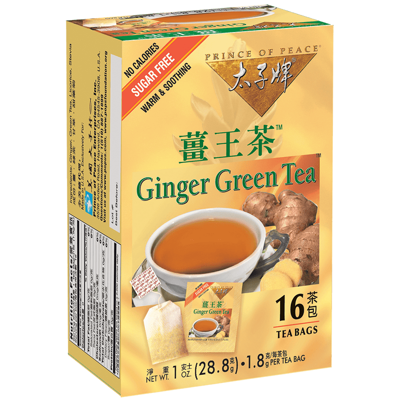 Prince of Peace Ginger Green Tea, 16 tea bags