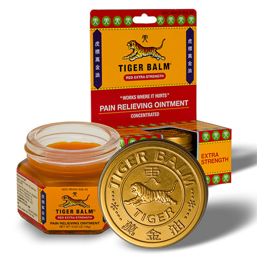 Tiger Balm Pain Relieving Ointment Red Extra Strength, 18g