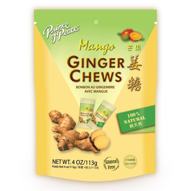 Prince of Peace Ginger Candy (Chews) With Mango, 4 oz