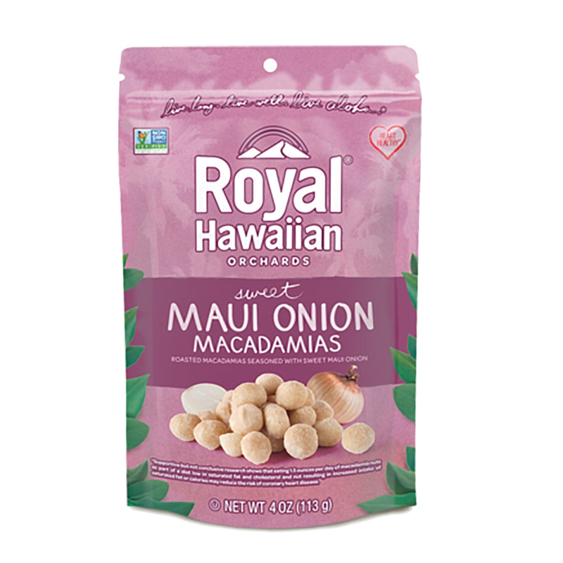 Royal Hawaiian Orchards Macadamia Nuts - Maui Onion, 4oz
