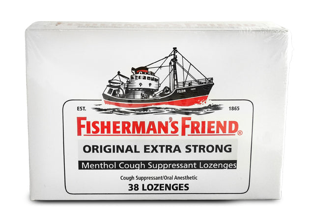 Fisherman's Friend Original Extra Strong Menthol Cough Suppressant Lozenges, 38 ct.