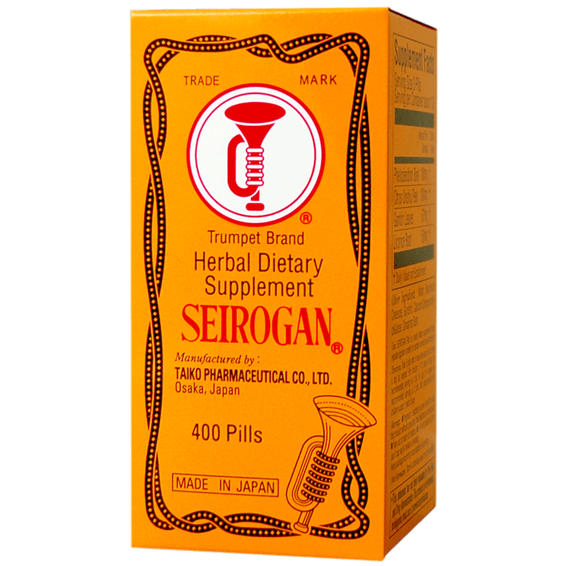 Trumpet Brand Seirogan Herbal Stomach Supplement, 400 pills