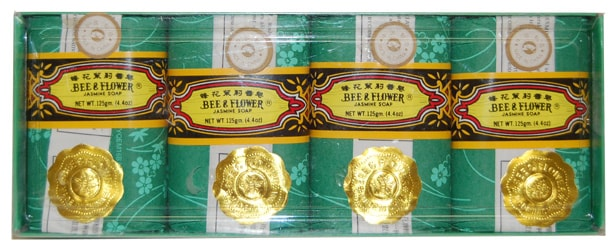 Bee & Flower Jasmine Soap Large, 4.4 oz. (pack of 4 bars)