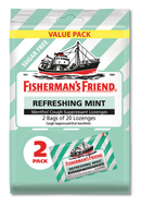 Fisherman's Friend Refreshing Mint Menthol Cough Suppressant Lozenges (Sugar Free), 2 x 20 ct.