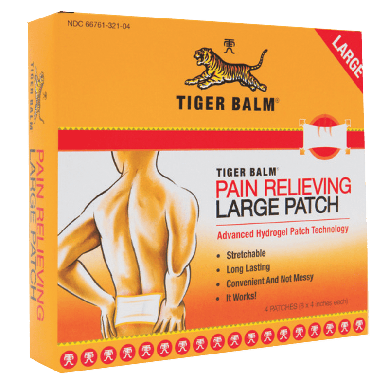 Tiger Balm Pain Relieving Large Patch, 4 Patches