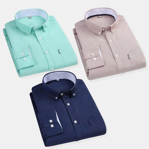 Combo Of 3 Solid Slim Fit Formal Shirt