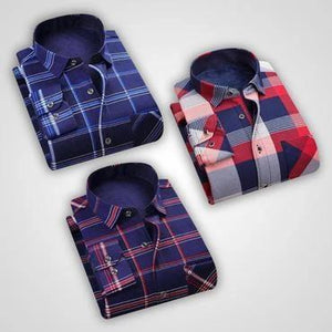Combo Of Checkered Slim Fit Casual Shirts