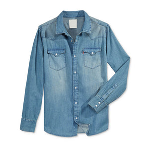 Men's Regular Fit Casual Denim Shirt