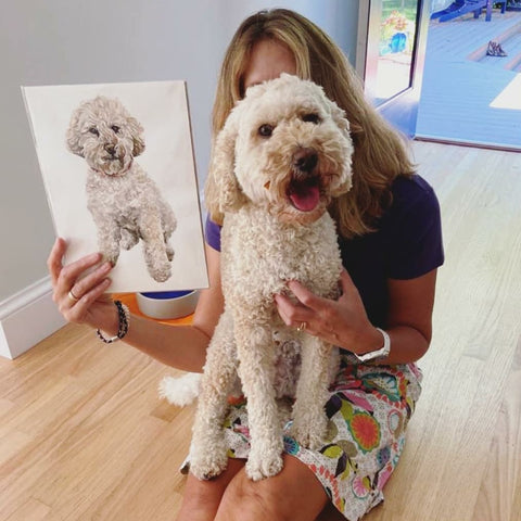 Happy Customer with a Pet Portrait in Bristol, England