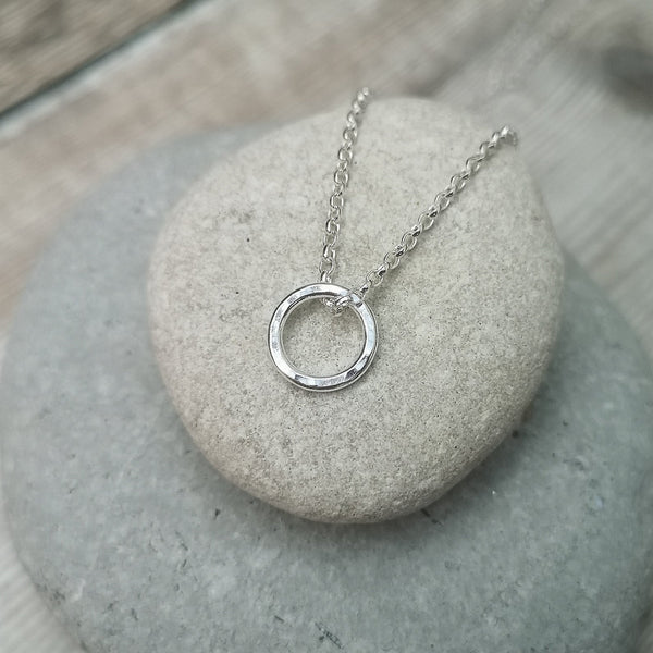 Circle Infinity Sterling Silver Necklace