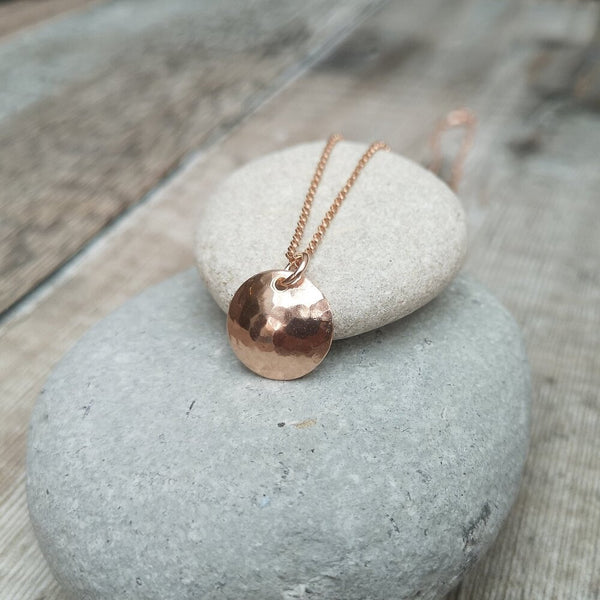 12ct Rose Gold Filled Disc Necklace