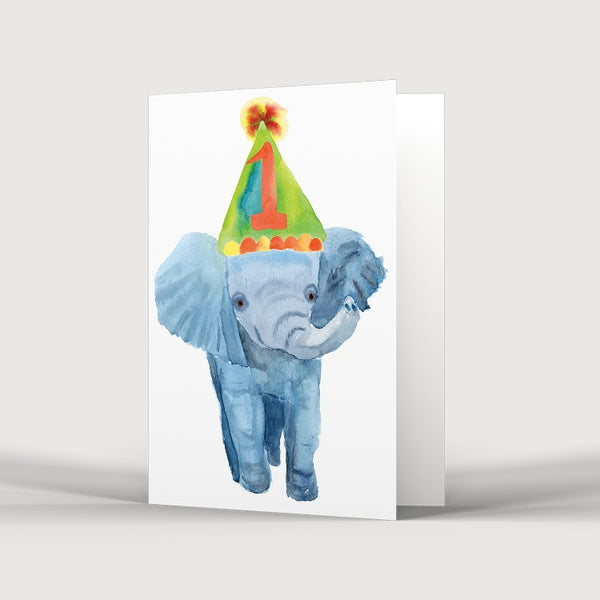 1st Birthday One Elephant Card