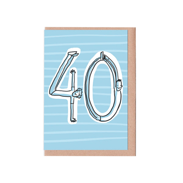 Male 40th Birthday Card