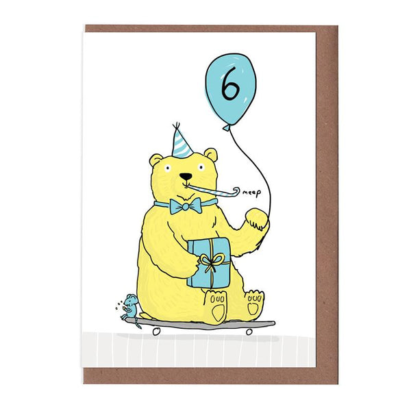 Age 6 Children's Birthday Card