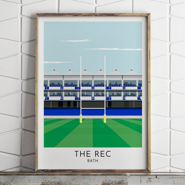 Bath Rugby Club The Recreation Ground Print