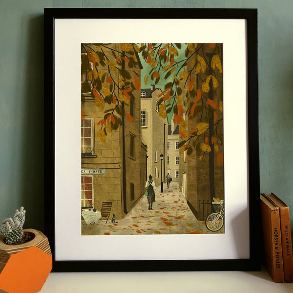 Bath Tea Shoppe Abbey Green Print