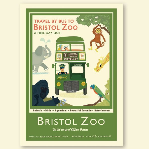 Bristol Zoo & Bristol Bus Travel Poster