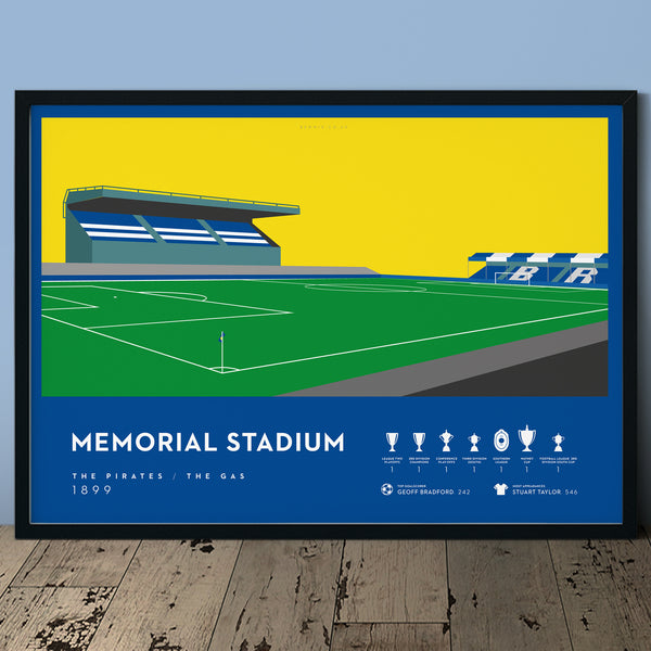 Bristol Rovers, Memorial Stadium Print