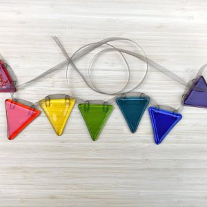 Rainbow Glass Bunting