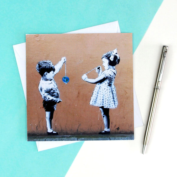 Conker the World Street Art Greetings Card