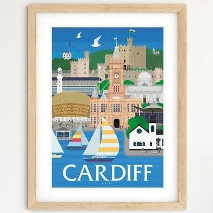 Cardiff Travel Poster Print