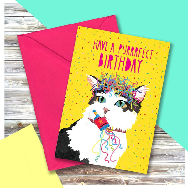 Cat Purrfect Birthday Card