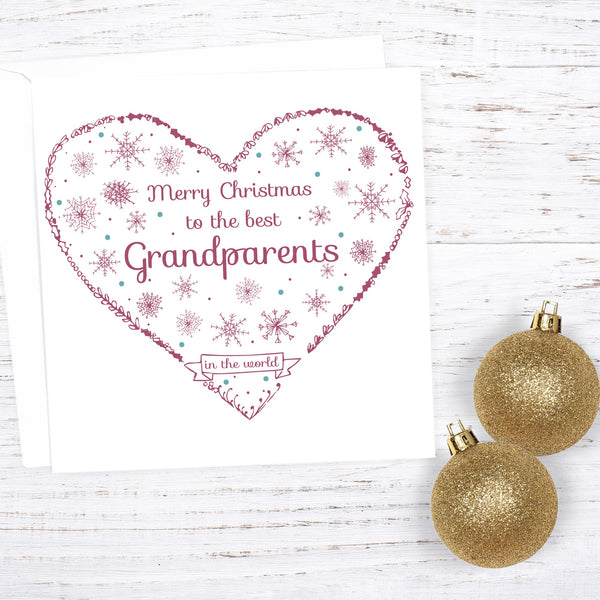 Grandparents Custom Christmas Card - change the name
