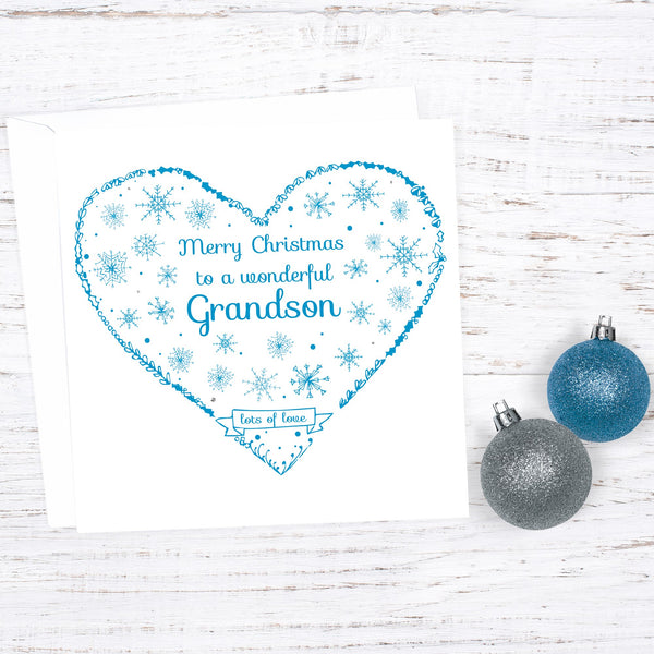 Grandson Custom Christmas Card