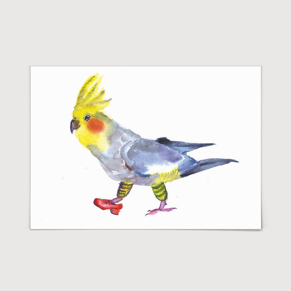 Cockatoo in One Shoe Print
