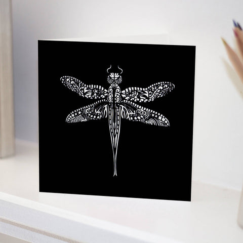 Black Dragonfly Card