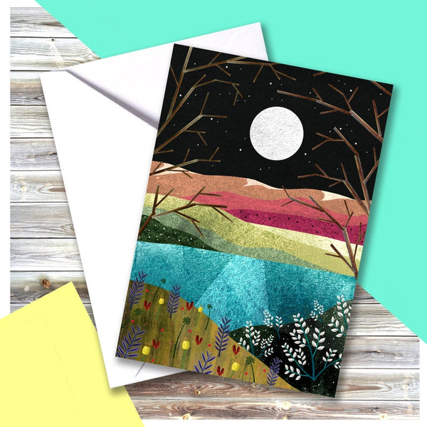 Fields Moon Card