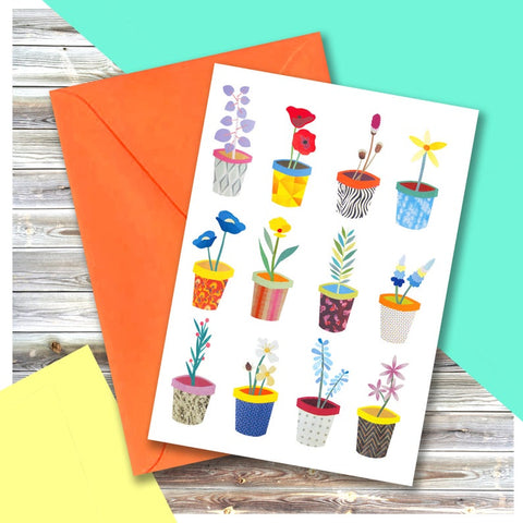 Flower Pots Card