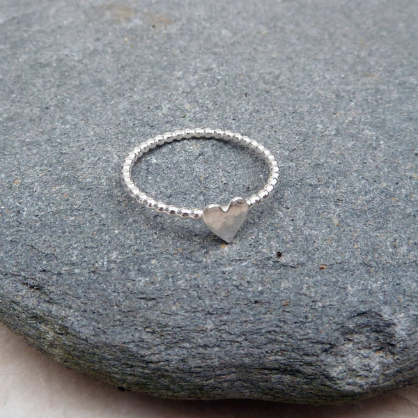 Sterling Silver Heart Ring made to order any size