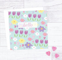 Hello Flower Card