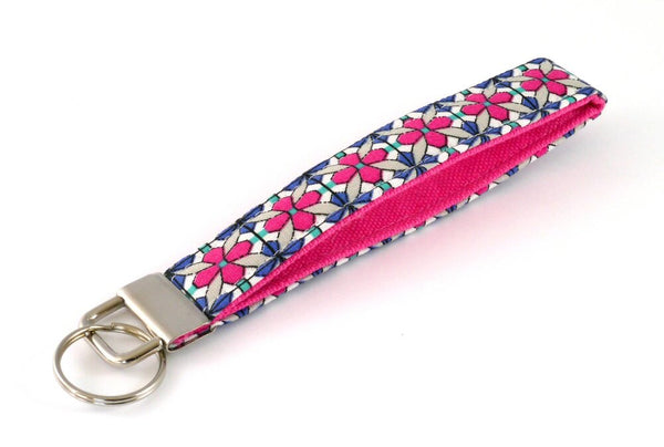 Pink and Blue Key Fob/Wristlet