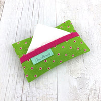 Lime and Pink Pocket Tissue Cover