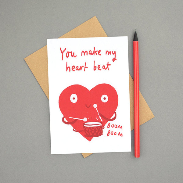 Make my Heart Beat Anniversary Card