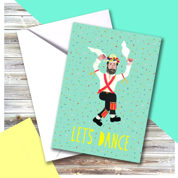 Morris Dancer Card
