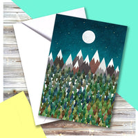 Mountains Moon Card