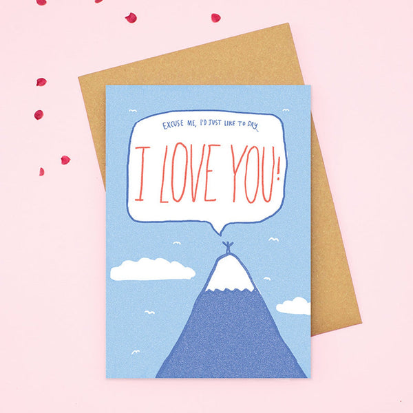 I Love You Mountain Top Card