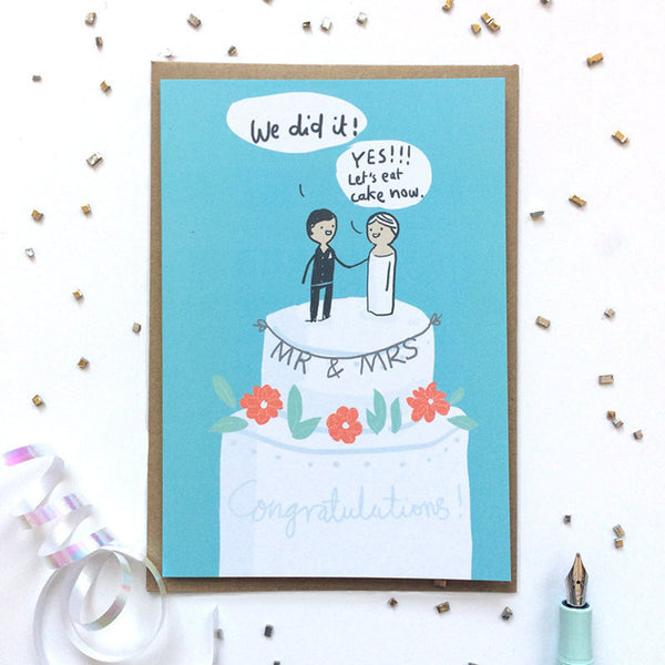 Wedding - Eat Cake Card