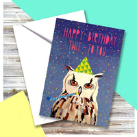 Owl Happy Birthday Greeting Card