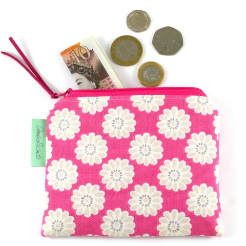 Pink Flower Coin Purse
