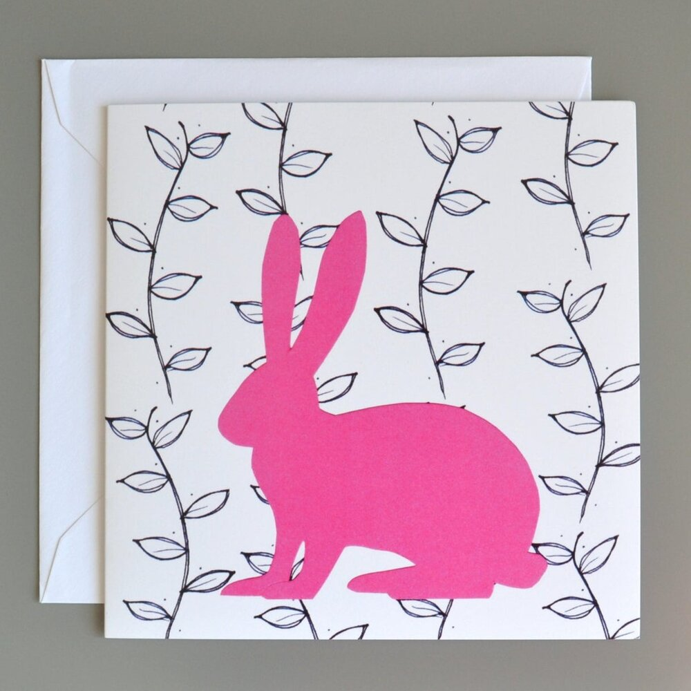 Pink Hare Card