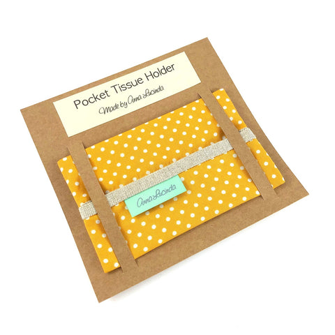 Yellow Polka Dot Pocket Tissue Holder