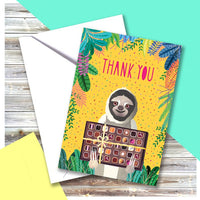 Thank You Sloth Card