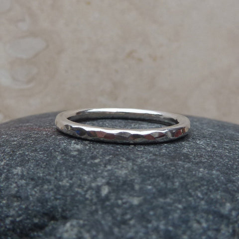 Sterling Silver Hammered Ring / Stacking Ring